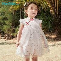 �R卡�吠��b2021年夏新品女童中���L�W��B衣裙
