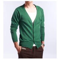 新款男士线衫春秋季男士V领开衫羊绒开衫大码针织衫衫薄款羊毛衫反季