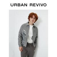 UR2020冬季新品男装时尚复古卡通图案宽松型棉服外套ML48S1JN2000