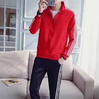 男士卫衣连帽韩版潮流秋冬季帅气外套一套男学生衣服休闲运动套装
