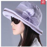 简约新款妈妈帽中老年帽子女士时尚盆帽薄款老人帽 遮阳帽太阳沙滩帽