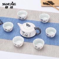 家用整套紫砂茶具茶壶茶杯茶海茶具青瓷功夫茶具套装