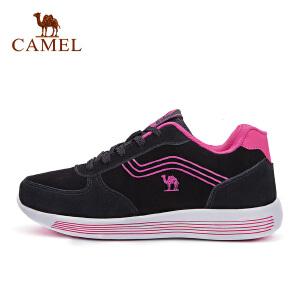 camel骆驼女款运动鞋 反绒皮减震舒适时尚休闲鞋女士