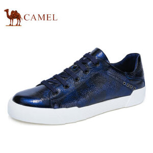 camel骆驼男鞋 秋季新品 时尚迷彩潮鞋滑板鞋系带鞋男鞋子
