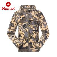 【开学季】Marmot/土拨鼠户外运动男式轻量透气开衫外套摇粒绒保暖柔软抓绒衣