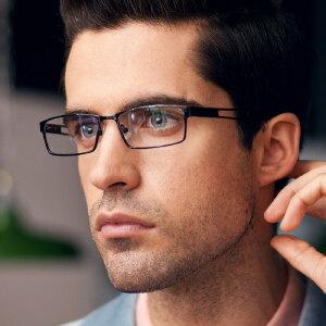 亿超 铝镁镜架 黑框眼镜框 潮 近视眼镜架 男款 合金FG7003