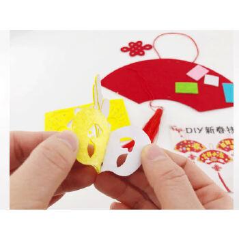 手工diy扇面 中国传统文化扇面挂件(赠品)