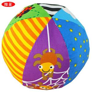 拉拉布书婴幼儿益智玩具启蒙与认知宝宝早教 六面彩色铃铛球