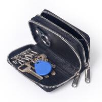 Yvonge韵歌鳄鱼纹牛皮双拉链钱包钥匙包卡包零钱包真皮男女款多功能手包