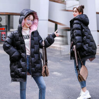 孕妇冬装连帽外套孕后期韩版冬季宽松大码棉衣