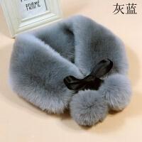 韩版秋冬季新款仿皮草围脖围巾仿兔毛假领子时尚百搭女毛毛领子