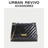 【当当超品价:199元】URBAN REVIVO2021春夏新品女士配件绗缝单肩斜挎包AW06BB2N2004