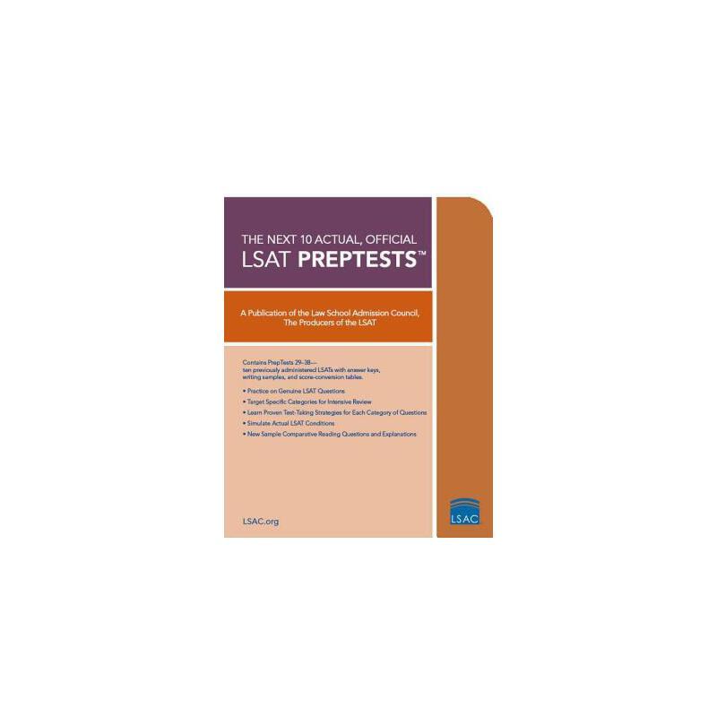 【预订】10 Next, Actual Official LSAT Preptests: (preptests 29-38) 预订商品,需要1-3个月发货,非质量问题不接受退换货。