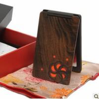 谭木匠  礼盒镂空镜-橙缘 沉贵宝化妆镜子