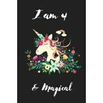 预订 Unicorn Journal I am 4 & Magical: A fairy birthday journ
