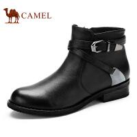 Camel 骆驼女靴 时尚休闲 牛皮舒适短靴 新款 日常女士靴子