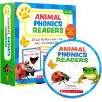 Scholastic Animal Phonics Readers 24册盒装附CD 学乐自然拼读绘本家庭教材 4-7