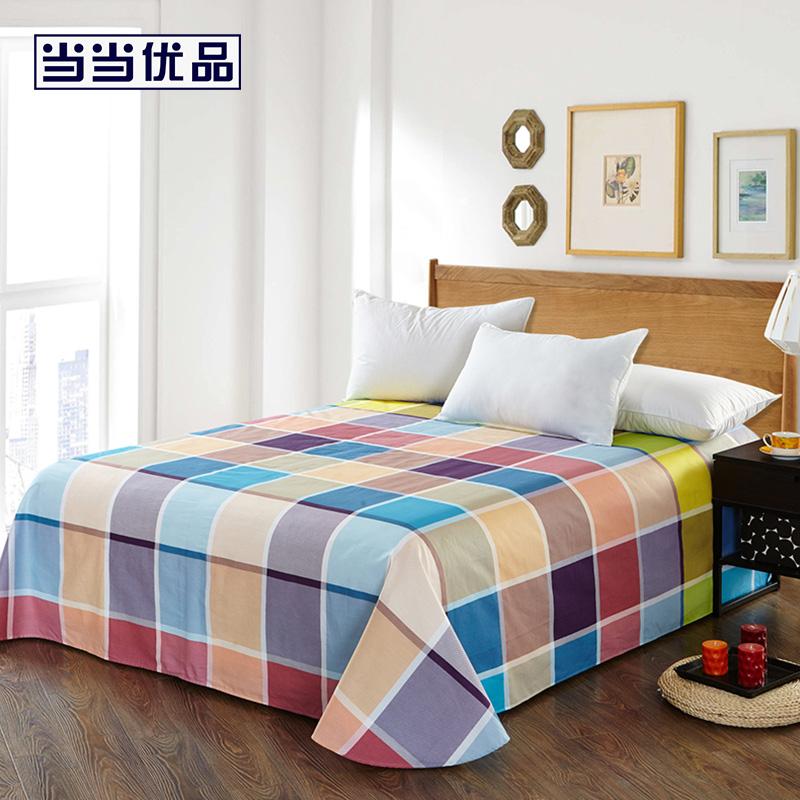 纯棉斜纹印花双人床单比格时尚 250*230当当自营 100%纯棉 不易褪色 0甲醛 透气防潮 大尺寸
