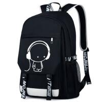 双肩包男时尚潮流韩版背包校园电脑包旅行包高中初中学生书包男包