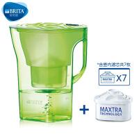 【当当自营】碧然德(BRITA) 过滤净水器 家用滤水壶 净水壶 限量  Navelia2.3L 绿色 1壶7芯