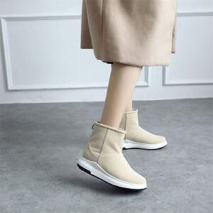 O'SHELL欧希尔新品071-X52韩版磨砂绒面松糕底女士雪地靴