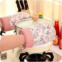 碎花厨房微波炉隔热手套 加厚烤箱防烫手套单只售