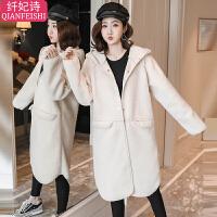 秋冬季宽松加厚保暖大衣孕妇冬装外套孕后期韩版外穿中长款上衣
