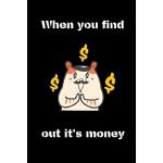 预订 When you find out it's money: hamster notebook for schoo