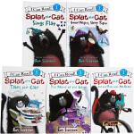 I Can Read啪嗒猫儿童5册礼盒装绘本Splat the Cat Level 1儿童启蒙学习英文版亲子互动学习i