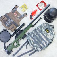 儿童吃鸡玩具枪m24阿卡ak47突击步抢98k狙击m416*95套装awm