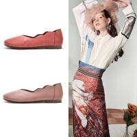 玛菲玛图复古名族风软皮花边单鞋女2020春款真皮春鞋休闲女皮鞋1859-8W