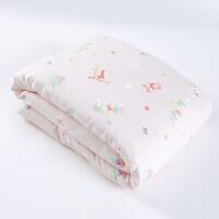 全棉时代婴幼儿纱布被子被套组合纯棉超柔薄款新生儿宝宝小被子