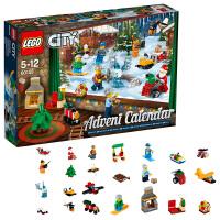 新品乐高城市系列 60155乐高城市圣诞节倒数日历 LEGO积木玩具