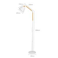 北欧床头落地灯创意客厅卧室书房简约现代可调光立式台灯