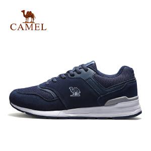 【每满200减100】camel骆驼运动男款跑鞋 缓震防滑时尚舒适低帮系带跑步鞋