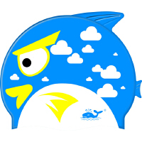 whale 鲸鱼 儿童游泳帽 儿童卡通泳帽 鱼形儿童游泳帽