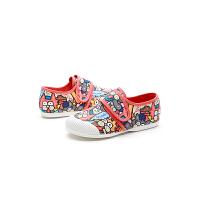 jm快乐玛丽2019春季新品涂鸦设计师魔术贴童鞋亲子休闲儿童鞋