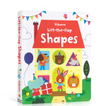 【发顺丰】英文原版 Usborne Lift-The-Flap Shapes 形状认知翻翻纸板书 低幼儿童英语单词启蒙