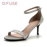 迪芙斯(D:FUSE)专柜同款细跟圆头时尚凉鞋DF82115467