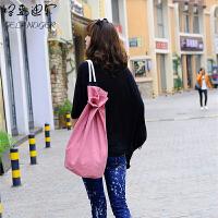 格蓝迪尔 新款时尚韩版包男女款防水旅行包双肩包背包帆布包水桶包抽带式篮球包斜挎包