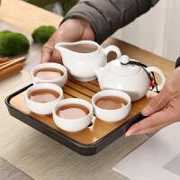 便�y旅行套�b功夫茶具整套茶�夭璞�旅游陶瓷茶�P