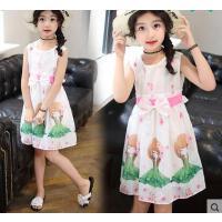 甜美童装女童休闲百搭装新款儿童公主连衣裙大童10岁12小女孩裙子13韩版时尚