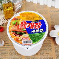 韩国进口食品 农心 辣牛肉小碗面86g杯