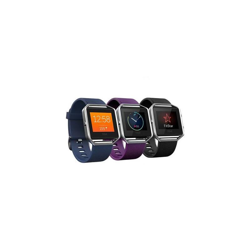 现货 Fitbit Blaze GPS智能手表 运动计步器心率睡眠健康手环 运动记录 音乐控制 睡眠检测 静音震动闹钟