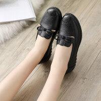 妈妈鞋软底舒适单鞋春秋款中老年人女鞋奶奶防滑平底中年老人皮鞋