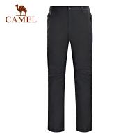 camel骆驼户外男款冲锋裤 防水防风透湿保暖男冲锋长裤