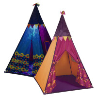 比乐B.Toys玩具宝宝儿童房过家家印第安帐篷室内游戏发光城堡