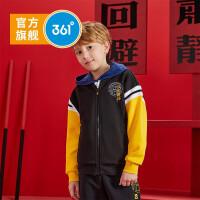 【1件45折到手价:125.55】361度童装 男童针织外套2021春季中大童儿童针织外套