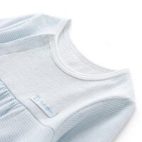 全棉时代新款新生婴儿长袖连体衣宝宝装男哈衣纯棉女衣服