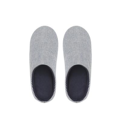 网易严选 日式和风条纹男女家居拖鞋简雅和风,自然般的舒适